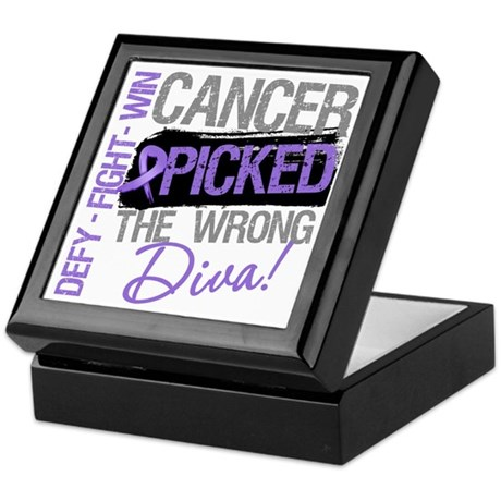 WrongDivaHodgkinsDisease Keepsake Box