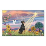 Cloud Angel-Dobie 1N Rectangle Decal