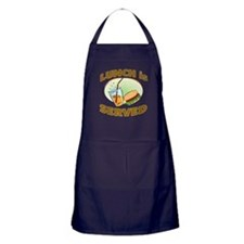 Lunch Is Served Apron (dark)