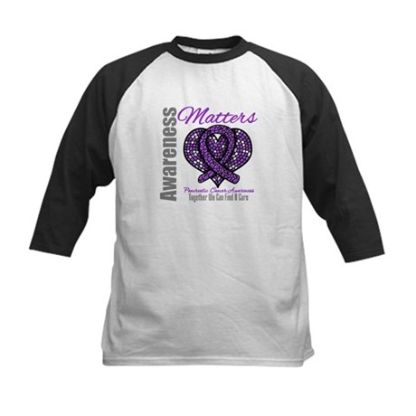PancreaticCancer MosaicRibbon Kids Baseball Jersey