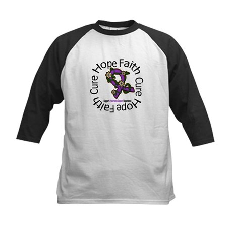 PancreaticCancer FlowerRibbon Kids Baseball Jersey