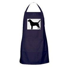 Cute Black labrador retriever Apron (dark)