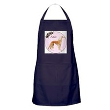 """Saluki in Pink"" Apron (dark)"