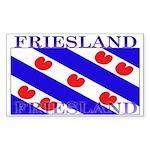 Friesland Frisian Flag Rectangle Sticker