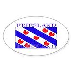 Friesland Frisian Flag Oval Sticker