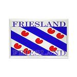 Friesland Frisian Flag Rectangle Magnet (100 pack)