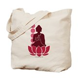 Praying Buddha (Red) Tote Bag