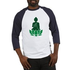 Praying Buddha (Green) Baseball Jersey