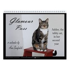 Glamour Puss - Ashley the tabby cat Wall Calendar