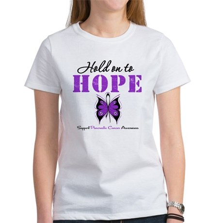 Pancreatic HoldOnToHope Women's T-Shirt