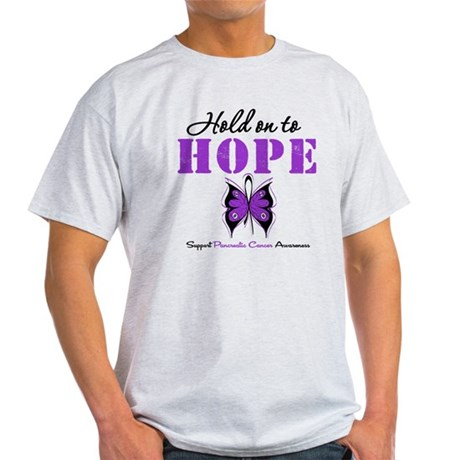 Pancreatic HoldOnToHope Light T-Shirt