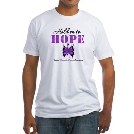 Pancreatic HoldOnToHope Fitted T-Shirt