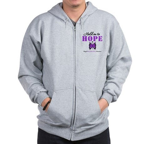 Pancreatic HoldOnToHope Zip Hoodie