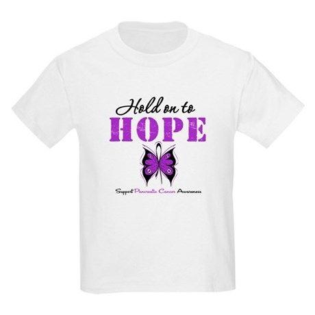 Pancreatic HoldOnToHope Kids Light T-Shirt