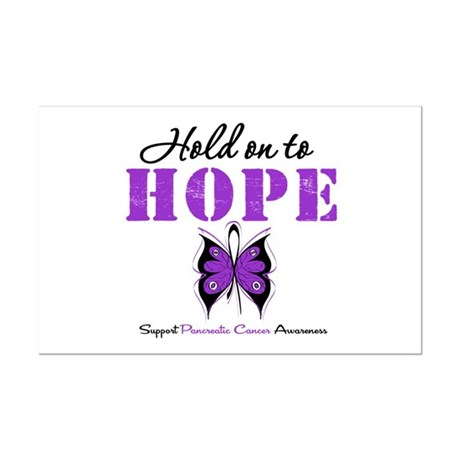 Pancreatic HoldOnToHope Mini Poster Print