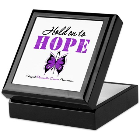 Pancreatic HoldOnToHope Keepsake Box