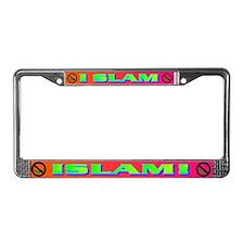 I SLAM ISLAM! License Plate Frame