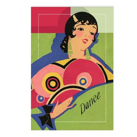 Alluring Gypsy Dancer Postcards (Package of 8)