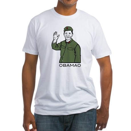 Obamao Fitted T-Shirt