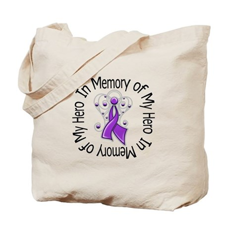 Purple Ribbon DecoAngel Tote Bag