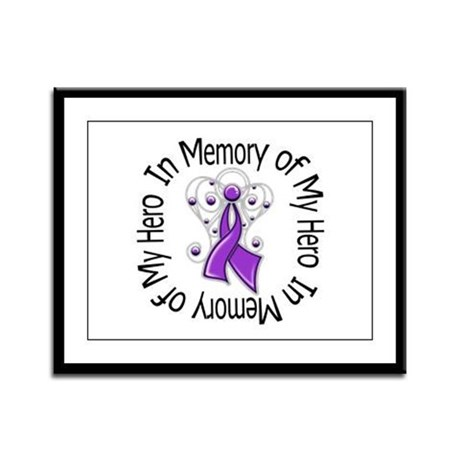 Purple Ribbon DecoAngel Framed Panel Print