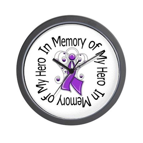 Purple Ribbon DecoAngel Wall Clock