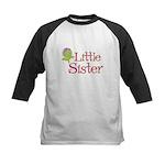 Little Sister Dahlia Flower Kids Baseball Jersey