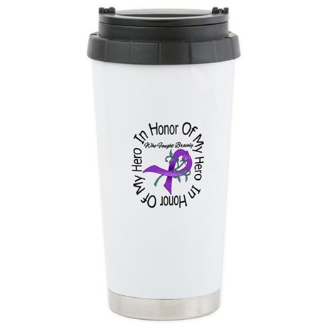 PancreaticCancer In Honor Ceramic Travel Mug