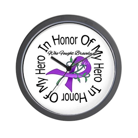 PancreaticCancer In Honor Wall Clock