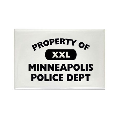 Property of Minneapolis PD Rectangle Magnet (10 pa
