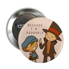 "Professor Layton Button (2.25"")"