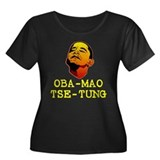 Oba-Mao Tse-Tung Women's Plus Size Scoop Neck Dark
