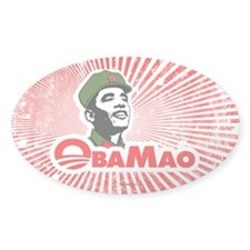 ObaMao Oval Sticker (50 pk)