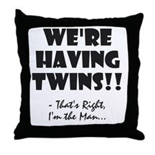 Cute Twins baby Throw Pillow