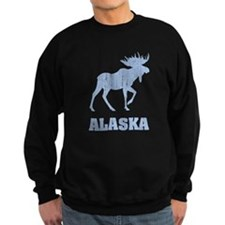 Retro Alaska Moose Sweatshirt
