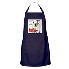 Merry Little Fox Terrier Apron (dark)