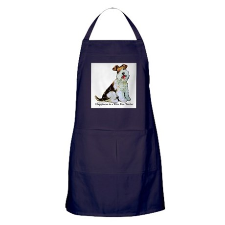 Fox Terrier Happiness Apron (dark)
