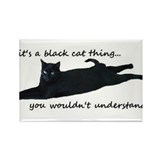 Cute Black Rectangle Magnet