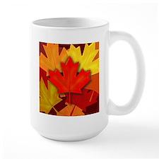 Fall Colored Candian Maple Leaves Mug