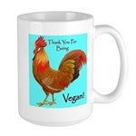 Thank you for Being Vegan Large Mug