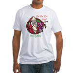 Santa Is Gay Fitted T-Shirt