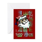 Santa Ate Baby Jesus! Greeting Cards (Pk of 20)