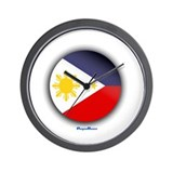 Philippines - Heart Wall Clock