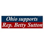 Ohio Supports Betty Sutton bumper sticker