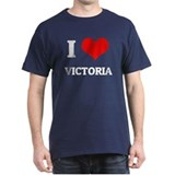 I Love Victoria Black T-Shirt