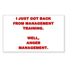 Anger Management Rectangle Decal