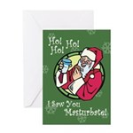 Santa Saw You Masturbate Greeting Card