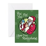 Santa Saw You Masturbate Greeting Cards (Pk of 10)