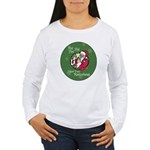 Santa Saw You Masturbate Women's Long Sleeve T-Shi