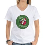 Santa Saw You Masturbate Women's V-Neck T-Shirt